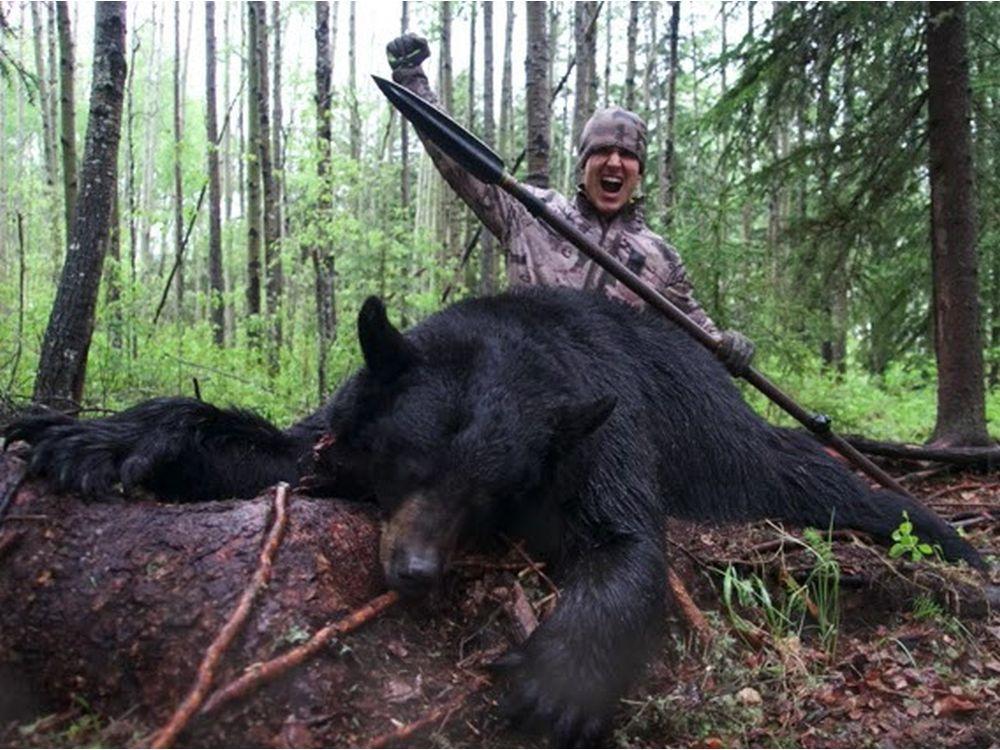 Охота на медведя с ножом и рогатиной